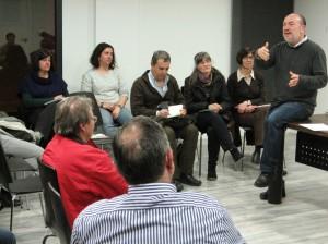 """Daniel Jover, durante una reciente intervención en Murcia en el ciclo organizado junto al Foro Ignacio ellacuría, """"Más allá de la crisis""""."""