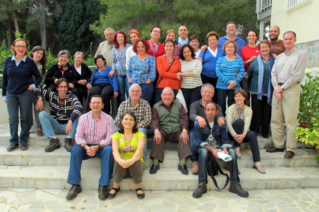 En la imagen, algunos de los participantes en la asamblea diocesana de la HOAC celebrada en Villa Pilar.